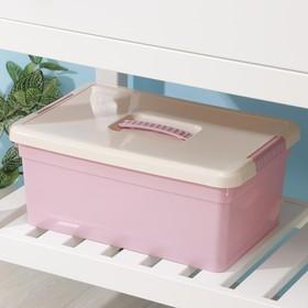 Контейнер для хранения с крышкой FunBox Kid's Box, 10 л, 37,5×25,5×16 см, цвет МИКС