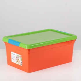Контейнер для хранения с крышкой FunBox Kid's Box, 10 л, 37,5×25×16 см, цвет МИКС