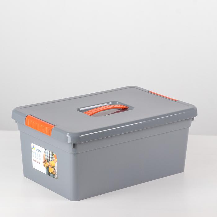 Контейнер для хранения 10 л Mechanic, 2 лотка, цвет МИКС - фото 308334587