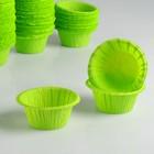 """Форма для выпечки """"Маффин"""", зеленое яблоко, 5 х 3,5 см"""