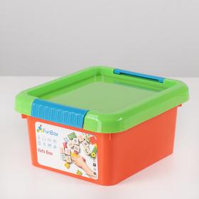 Контейнер для хранения с крышкой FunBox Kid's Box, 2 л, 19,5×17×10 см, цвет МИКС