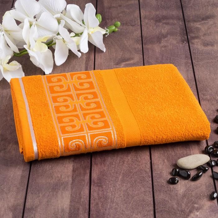 Полотенце махровое PRIME жаккард 70*130 оранжевый хл.100%, 420 гр/м