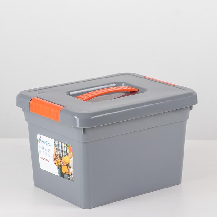 Контейнер для хранения 5 л Mechanic, с ручкой, 6 вставок, лоток, цвет МИКС - фото 134267139