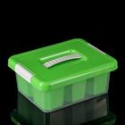 Контейнер для хранения 3 л Standart, с ручкой, 6 вставок, цвет салатовый