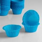"""Форма для выпечки """"Маффин"""", синий, 5 х 3,5 см"""