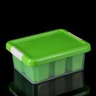 Контейнер для хранения 3 л Standart, 6 вставок, цвет салатовый