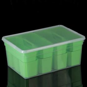 Контейнер для хранения FunBox Basic, 10 л, 12 вставок, 2 лотка, цвет МИКС
