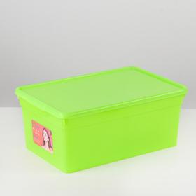 Контейнер для хранения с крышкой Funcolor, 10 л, 36,5×24,5×15,5 см, цвет МИКС