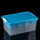 Контейнер для хранения 10 л Standart, 2 лотока, цвет МИКС