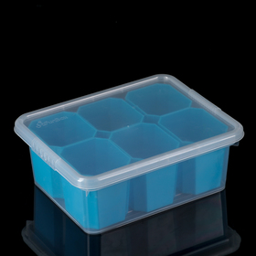 Контейнер для хранения Basic, 3 л, 6 вставок, цвет МИКС