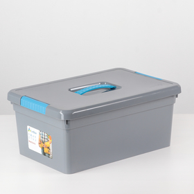 Контейнер для хранения 10 л Mechanic, 12 вставок, 2 лотка, цвет МИКС