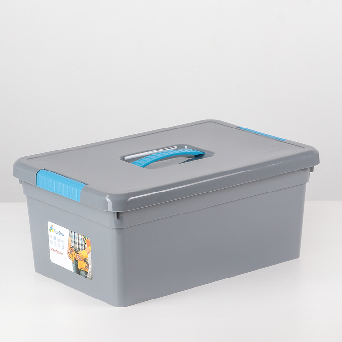 Контейнер для хранения 10 л Mechanic, 12 вставок, 2 лотка, цвет МИКС - фото 308334631