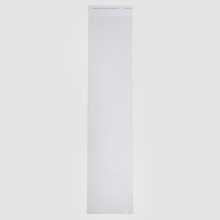 Пакет БОПП с клеевым клапаном 14 х 60/4 см, с отверстием, 30 мкм - фото 308983884