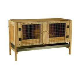 Брудер для цыплят, 100 × 40 × 45 см, с поддоном, с патроном под лампу, деревянный Ош