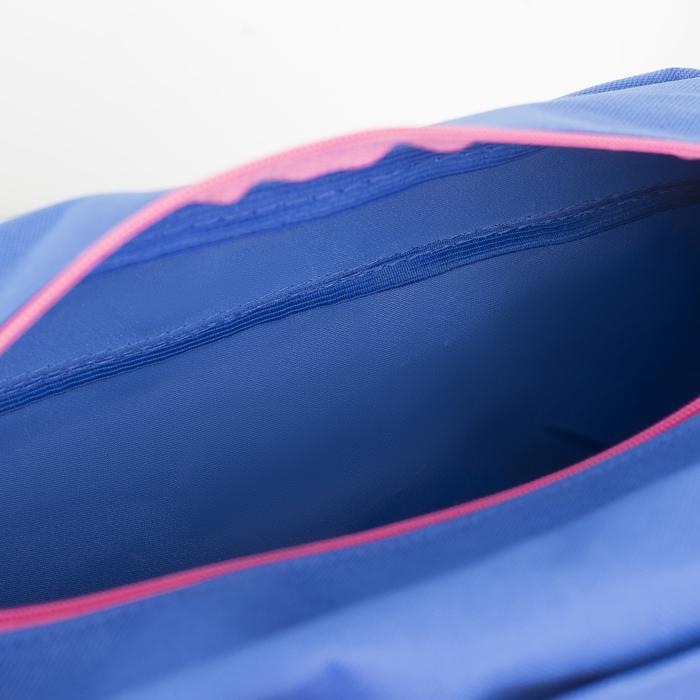 Сумка спортивная, отдел на молнии, наружный карман, цвет голубой/розовый