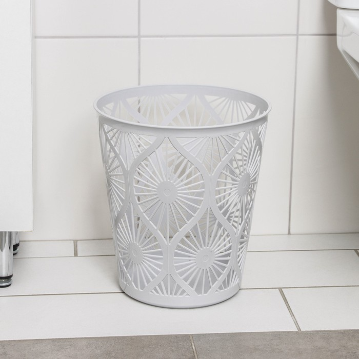 Корзина для мусора 10 л, цвет чёрный