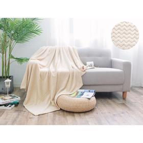 Плед Royal plush, размер 150 × 200 см, цвет крем - брюле, велсофт