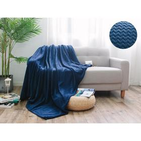 Плед Royal plush, размер 150 × 200 см, цвет синий, велсофт