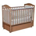 Кроватка детская Helen 3, автостенка, универсальный маятник, закрытый ящик, цвет бук