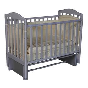 Кроватка детская Helen 2, автостенка, универсальный маятник, цвет серый