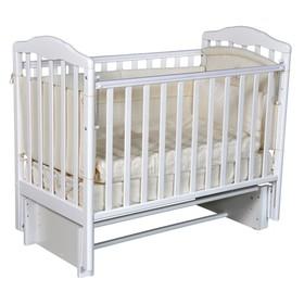 Кроватка детская Helen 2, автостенка, универсальный маятник, цвет белый