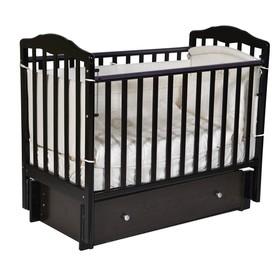 Кроватка детская Helen 3, автостенка, универсальный маятник, закрытый ящик, цвет шоколад