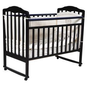 Кроватка детская Helen 1, автостенка, цвет шоколад