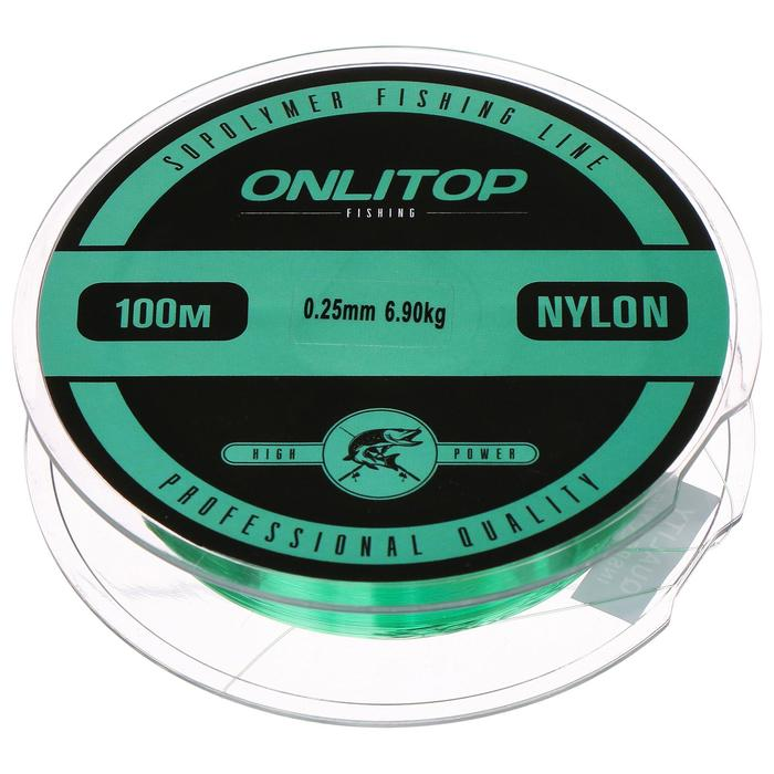 Леска капрон LIZARD зеленая d=0,25 мм, 100 м, 6,9 кг