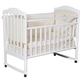 Кроватка детская Helen 1, автостенка, цвет белый