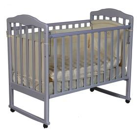 Кроватка детская Helen 1, автостенка, цвет серый