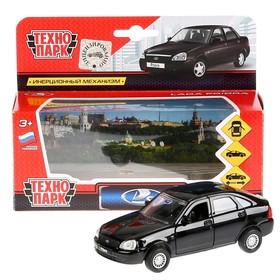 Машина металлическая инерционная «Lada Priora хэтчбек», цвет черный, 12 см