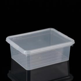 Контейнер для хранения с крышкой FunBox Basic, 3 л, 25×20×9 см, цвет прозрачный
