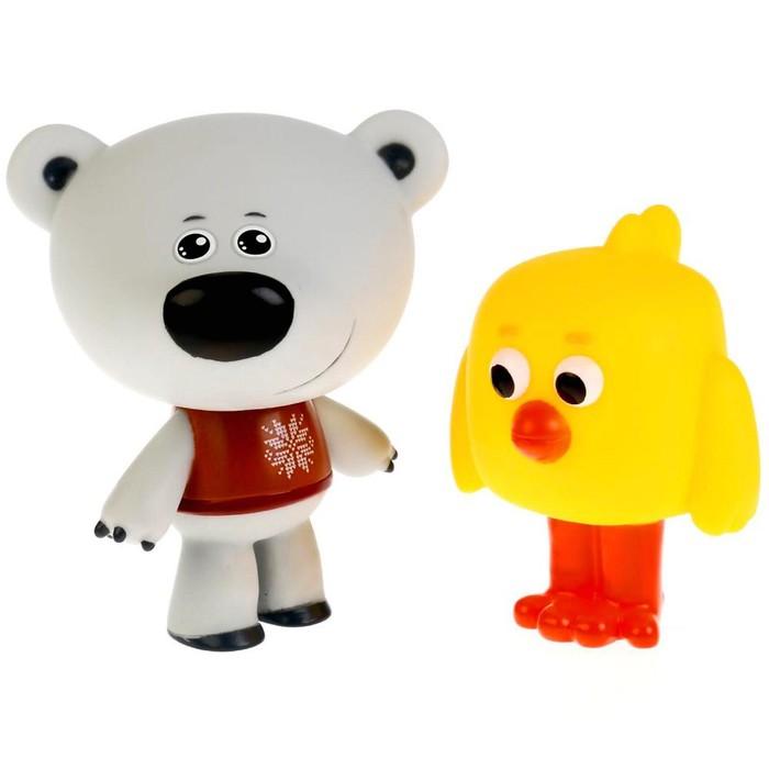 Набор из 2 игрушек для купания «Цыпа и Тучка», в сетке - фото 683993670