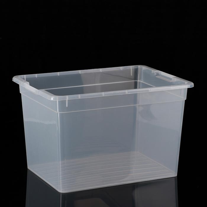 Контейнер для хранения FunBox Basic, 20 л, 39×28×24,5 см, цвет прозрачный - фото 308334666