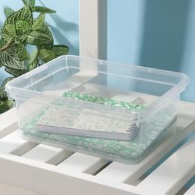 Контейнер для хранения Basic, 3 л, 24,5×19,5×9 см, цвет прозрачный