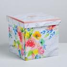 Складная коробка «Цветочный сад», 18.5 × 18.5 × 18.5 см