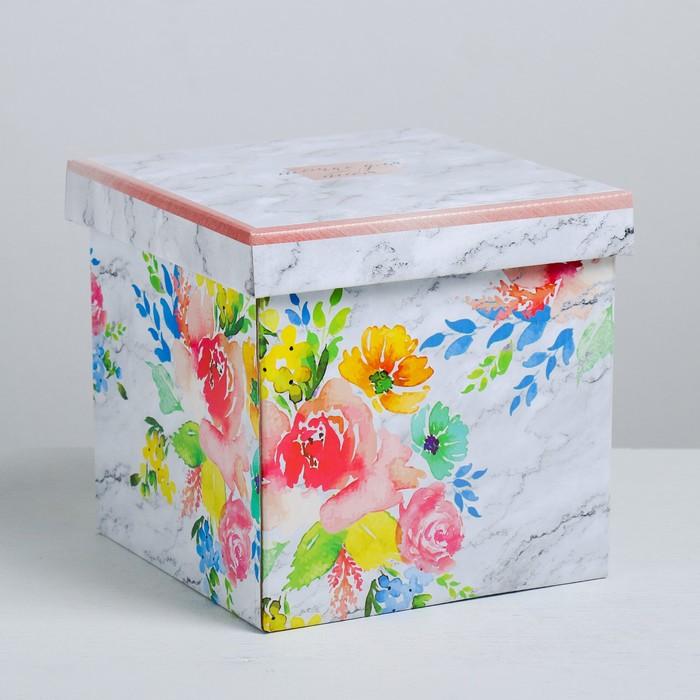 Складная коробка «Цветочный сад», 18.5 × 18.5 × 18.5 см - фото 144893855