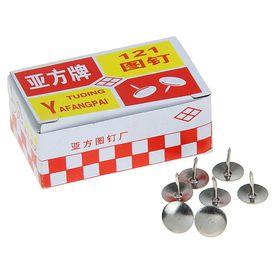 Кнопки никелированные в коробке, 100 шт. Ош