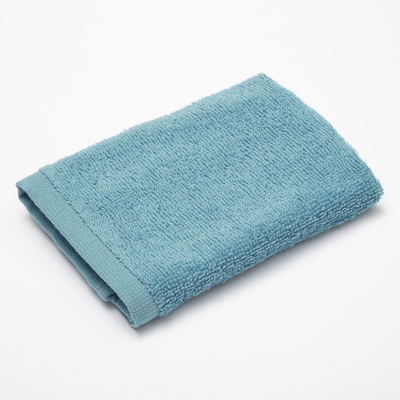 """Terry towel """"and Save Me"""" 30×30 cm, turquoise 100% cotton, 340 g/m2"""