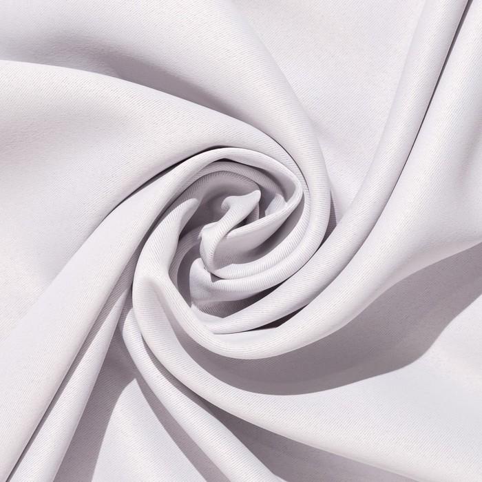 Ткань портьерная 10 м, ширина 280 см, 210 г/м², цвет металл, блэкаут, 100% п/э