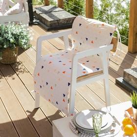 Подушка на уличное кресло «Этель» Треугольники, 50×100+2 см, репс с пропиткой ВМГО, 100% хлопок Ош