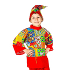 """Карнавальный костюм """"Петрушка"""", рубаха, колпак, 3-5 лет, рост 104-116 см"""