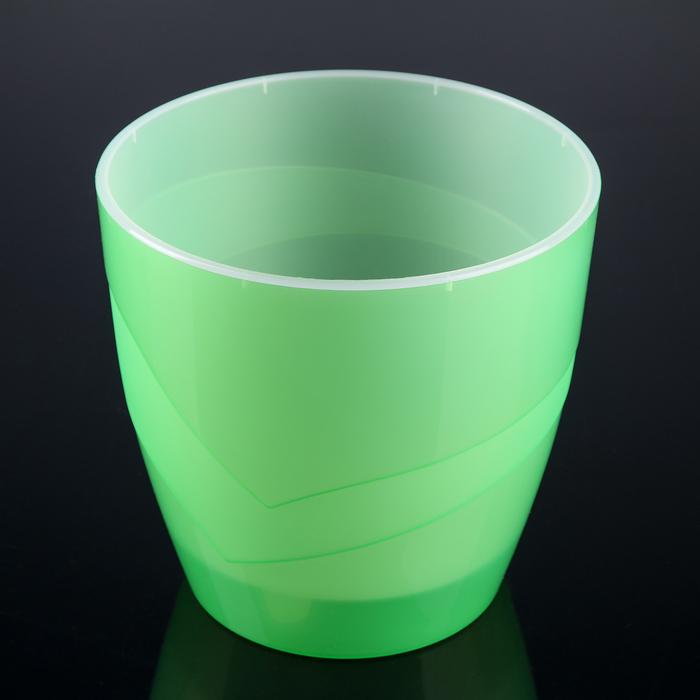 "Кашпо 4,5 л ""Грация"", цвет прозрачно-зелёный"