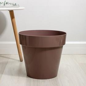 Кашпо со вставкой «Порто», 15 л, цвет мокко