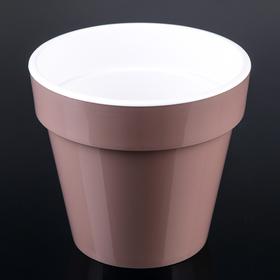Кашпо со вставкой «Порто», 3,5 л, цвет мокко