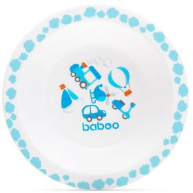 Тарелка BABOO глубокая Transport, от 6 месяцев