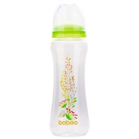 Бутылочка BABOO с силиконовой соской, узкая, 330 мл, Summer, от 3 месяцев