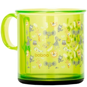 Чашка BABOO 170 мл, с антискользящим дном Safari, от 12 месяцев