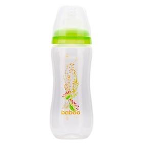 Бутылочка BABOO с силиконовой соской, узкая, 240 мл, Summer, от 3 месяцев