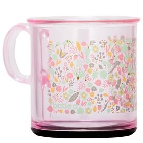 Чашка BABOO 170 мл, с антискользящим дном Flora, от 12 месяцев